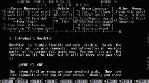 Editor Wordstar for MS-DOS