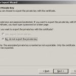 Exportul cheii private din certificatul digital