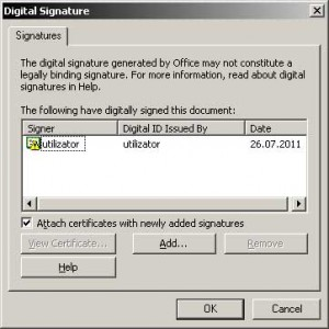 Document cu semnătură digitală