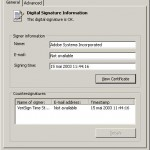 Digital Signature Details - General
