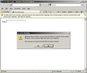 Protecţie Internet Explorer la controale ActiveX