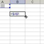 Referinţă absolută în Microsoft Excel 2003