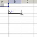 Referinţă relativă în Microsoft Excel 2003